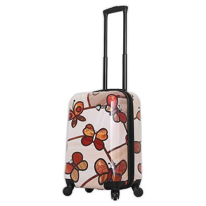 Alternate image 1 for Mia Toro ITALY Ricci Butterflies 20-Inch Hardside Spinner Carry On Luggage
