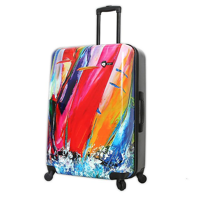 Alternate image 1 for Mia Toro ITALY Duaiv Sails 28-Inch Hardside Spinner Checked Luggage