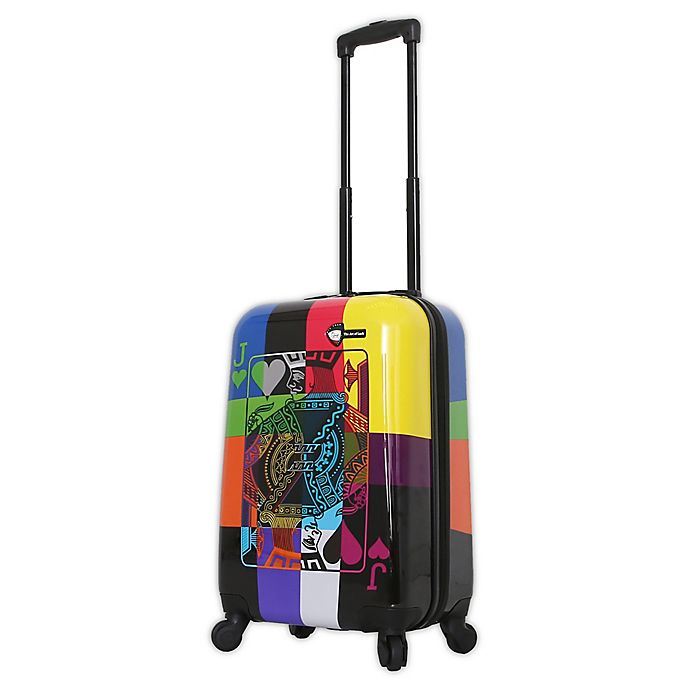 Alternate image 1 for Mia Toro ITALY Art of Luck 20-Inch Hardside Spinner Carry On Luggage