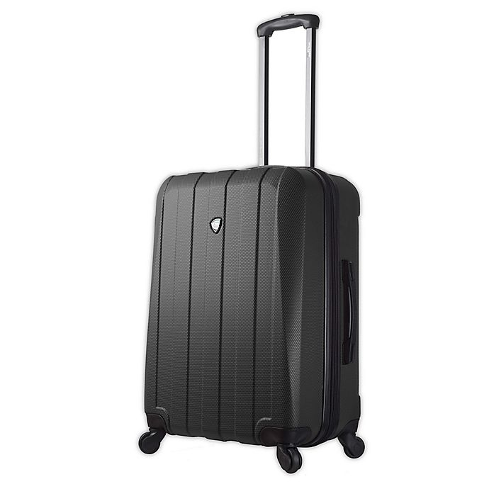 Alternate image 1 for Mia Toro ITALY Tosetti 24-Inch Hardside Spinner Checked Luggage in Black