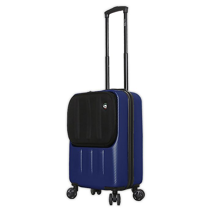Alternate image 1 for Mia Toro ITALY Reggia 20-Inch Hardside Spinner Carry On Luggage in Blue