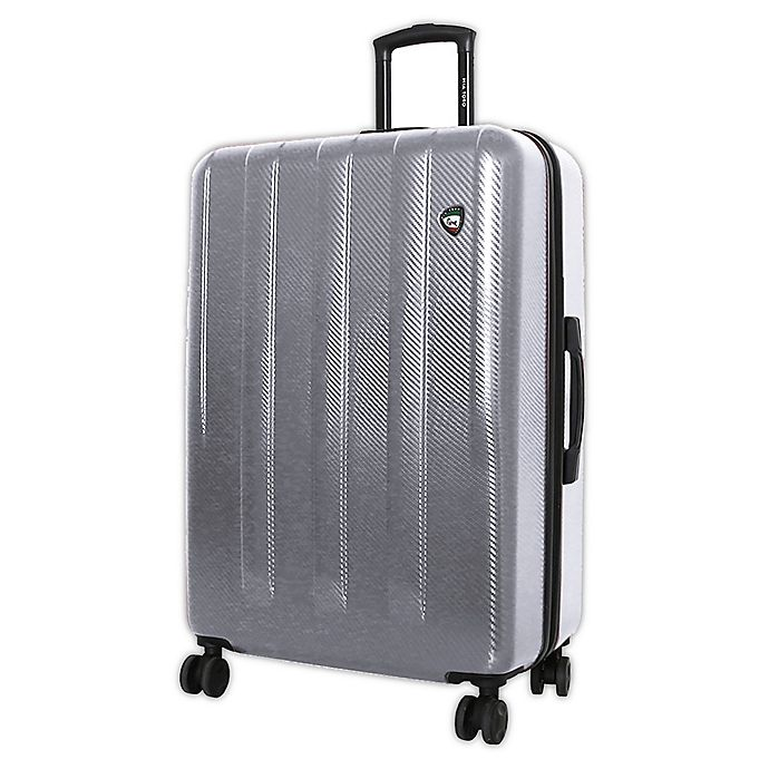Alternate image 1 for Mia Toro ITALY Reggia 28-Inch Hardside Spinner Checked Luggage in Silver