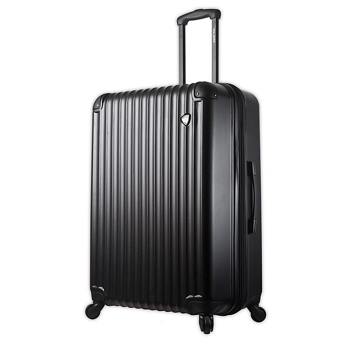Alternate image 1 for Mia Toro ITALY Rotolo 28-Inch Hardside Spinner Checked Luggage in Black