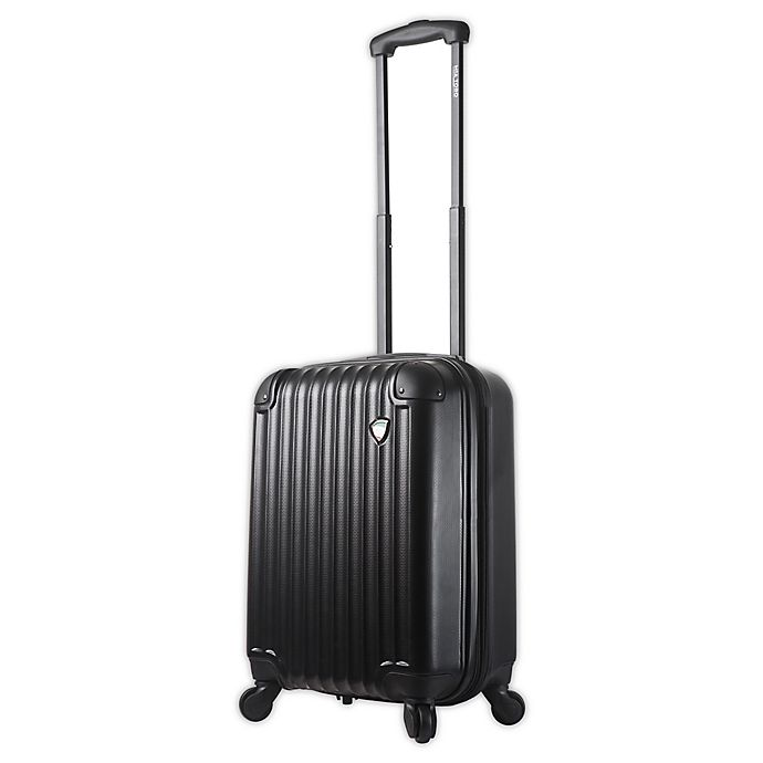 Alternate image 1 for Mia Toro ITALY Rotolo 20-Inch Hardside Spinner Carry On Luggage in Black
