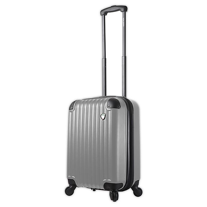 Alternate image 1 for Mia Toro ITALY Rotolo 20-Inch Hardside Spinner Carry On Luggage in White