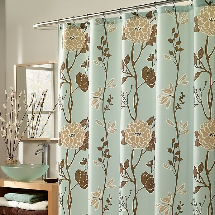 M Style Cassandra 70 Inch X 72 Fabric Shower Curtain In Blue