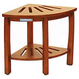 Oceanstar Spa Corner Shower Bench with Storage Shelf