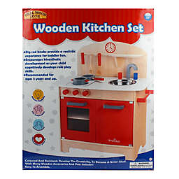 Homeware Wood Kitchen Set in Red