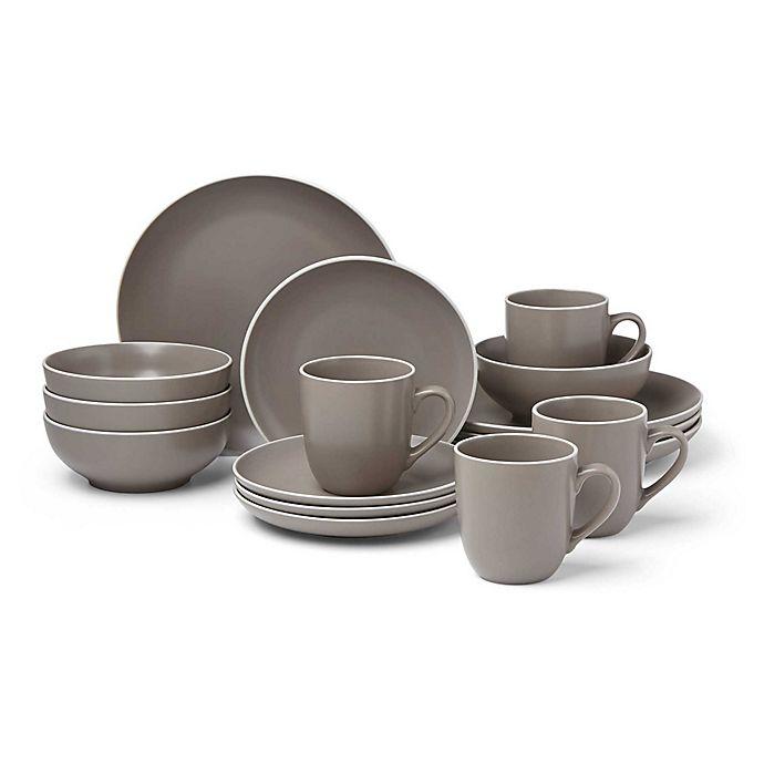 Alternate image 1 for Dansk® Kisco Taupe 16-Piece Dinnerware Set