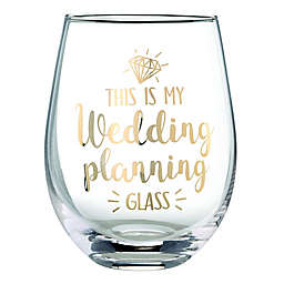 "Lillian Rose™ ""Wedding Planning"" Stemless Wine Glass"