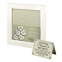 Lillian Rose™ Guest Hearts 11.5-Inch Square Frame in White