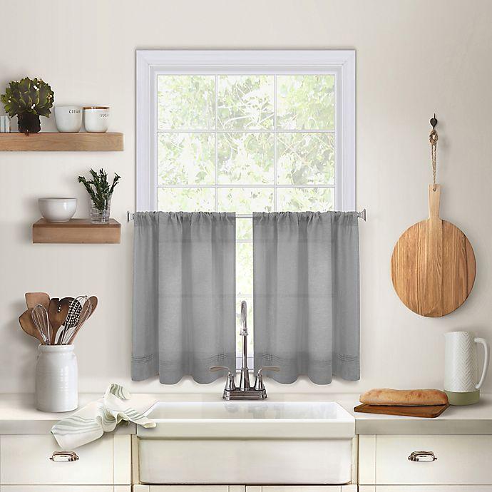 Alternate image 1 for Maison 24-Inch Kitchen Window Curtain Tier Pair in Grey