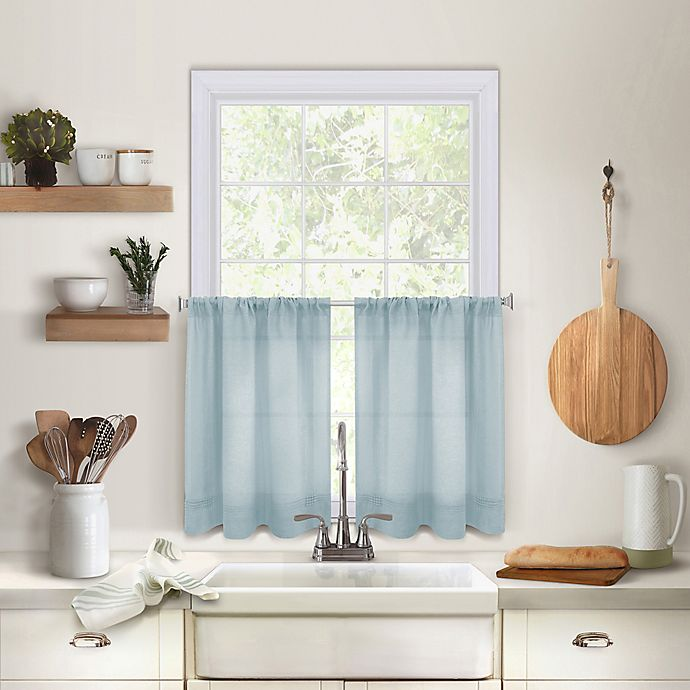 Alternate image 1 for Maison 36-Inch Kitchen Window Curtain Tier Pair in Mineral