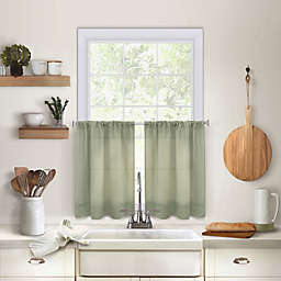 Maison 45-Inch Kitchen Window Curtain Tier Pair in Sage