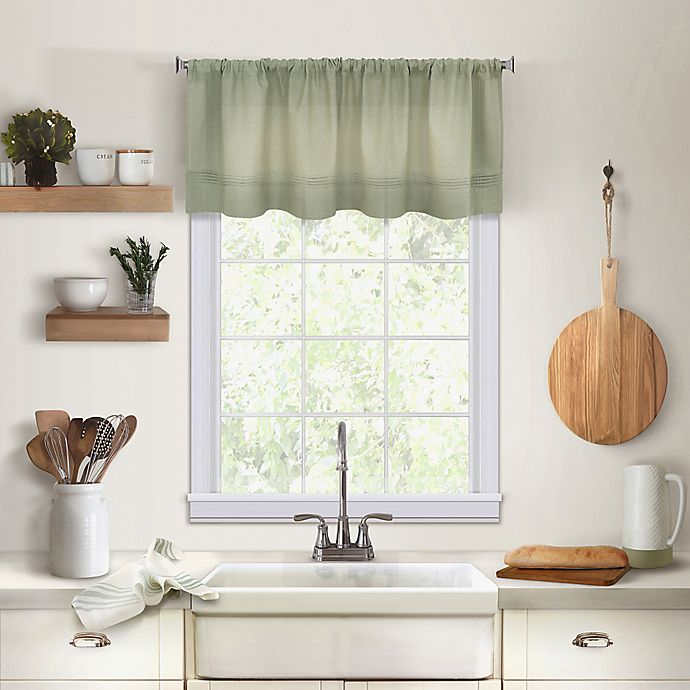 Alternate image 1 for Maison Kitchen Window Valance in Sage