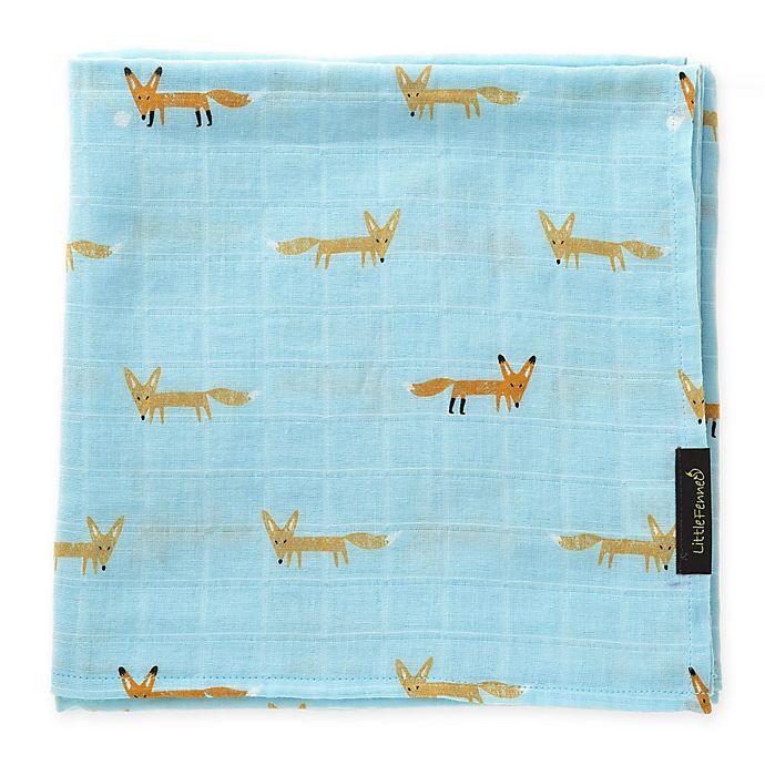 Alternate image 1 for Speech Muslin Cuddle Blanket in Blue