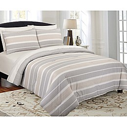 Ron Chereskin Striped Reversible Duvet Cover Set