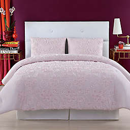Christian Siriano NY® Pretty Petals Full/Queen Duvet Cover Set in Pink