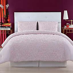 Christian Siriano NY® Pretty Petals King Duvet Cover Set in Pink