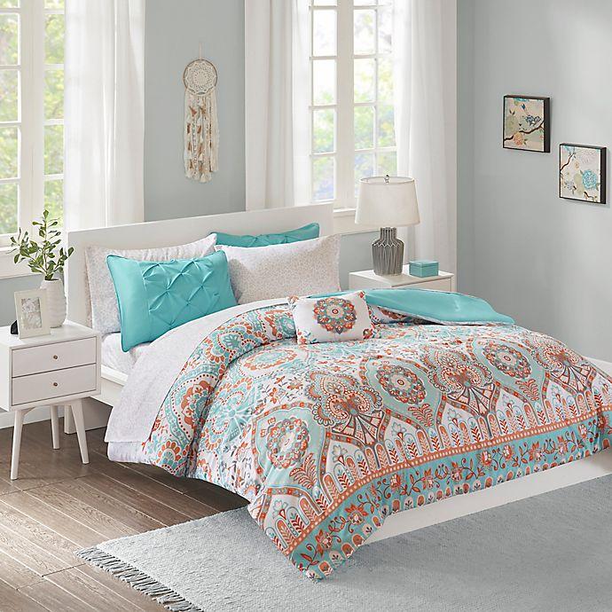 Alternate image 1 for Intelligent Design Vinnie Comforter Set in Aqua