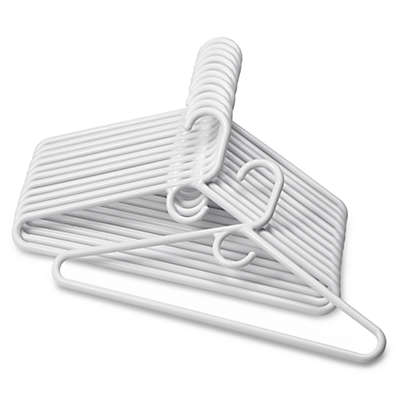 SALT™ 12-Pack Heavyweight Hangers in White