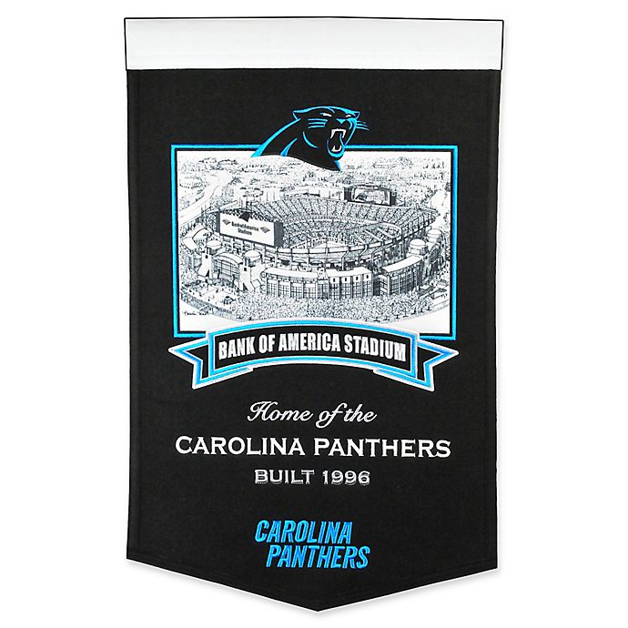 Alternate image 1 for NFL Carolina Panthers Bank of America Stadium Banner in Black