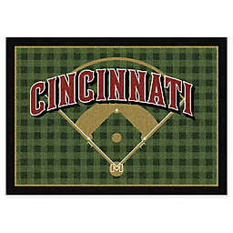 MLB Team Field Cincinnati Reds Area Rug
