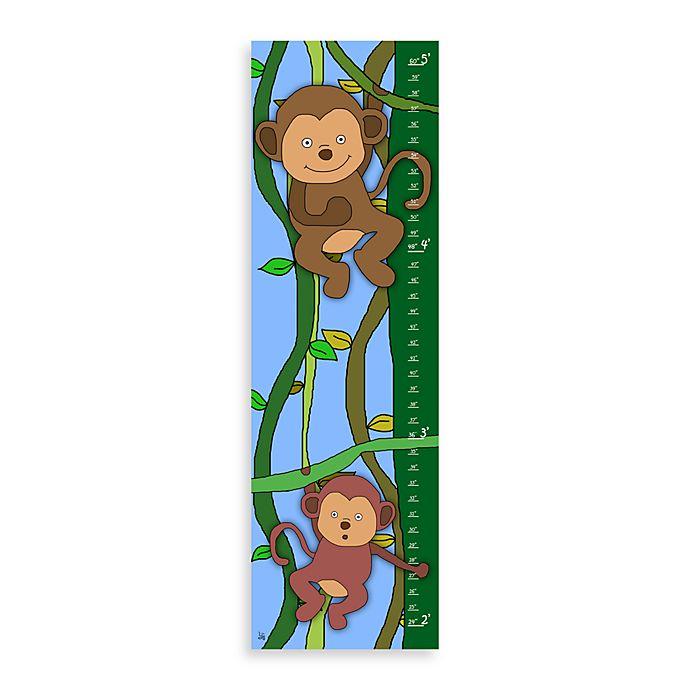 Green Leaf Art Jungle Monkeys Growth Chart Bed Bath Beyond