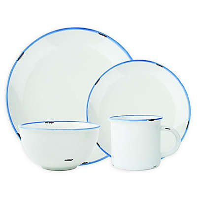 canvas home™ Tinware Dinnerware Collection in White/Blue