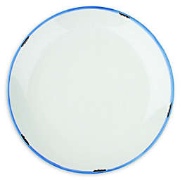 canvas home™ Tinware Salad Plates in White/Blue (Set of 4)
