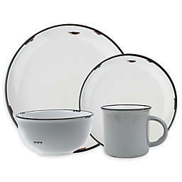 canvas home™ Tinware Dinnerware Collection in Light Grey