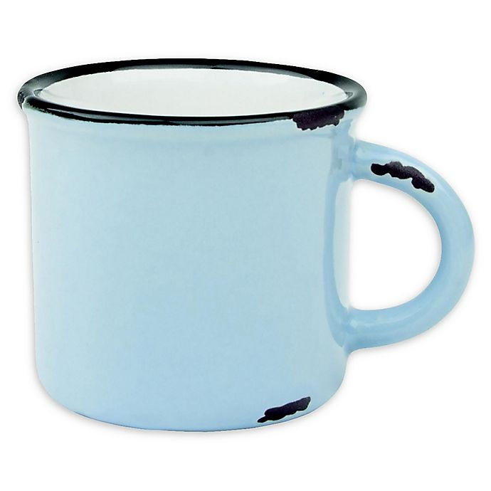 Alternate image 1 for canvas home™ Tinware Espresso Mugs in Light Blue (Set of 4)