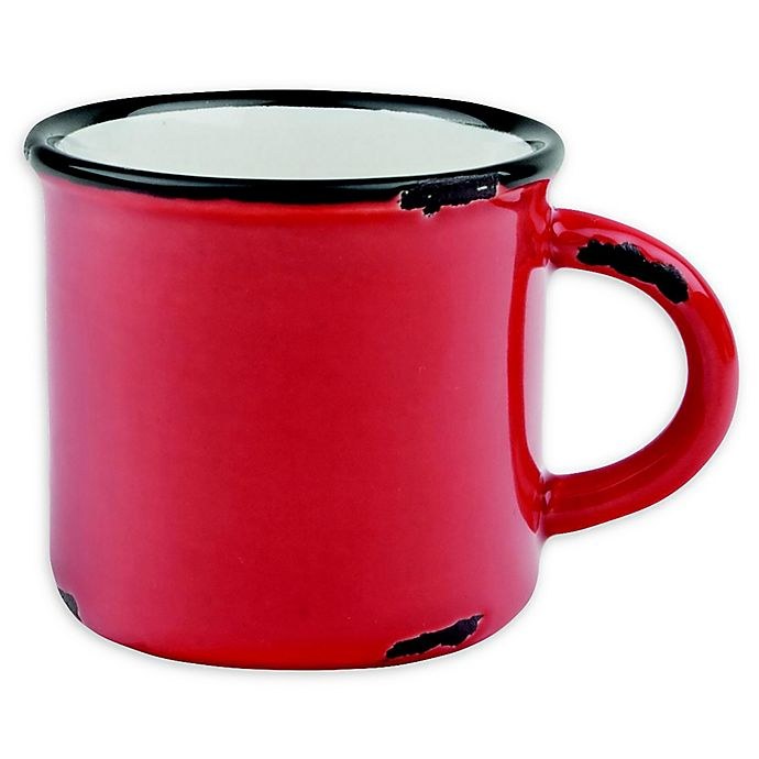 Alternate image 1 for canvas home™ Tinware Espresso Mugs in Red (Set of 4)