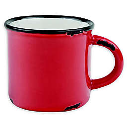 canvas home™ Tinware Espresso Mugs in Red (Set of 4)