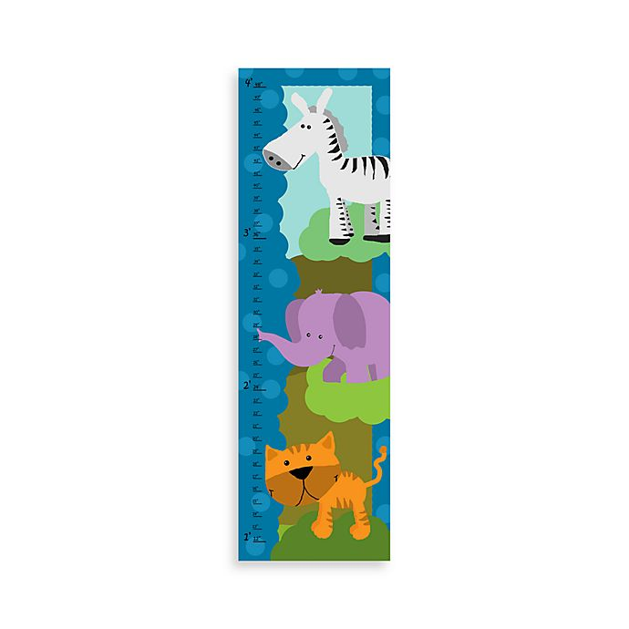 Green Leaf Art Jungle Animals I Growth Chart | Bed Bath & Beyond