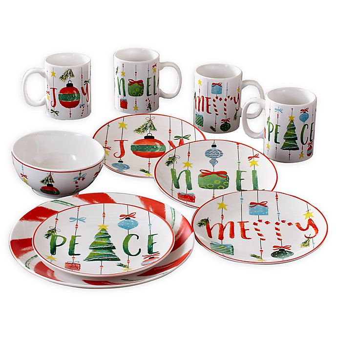 Alternate image 1 for American Atelier Ornaments 16-Piece Dinnerware Set