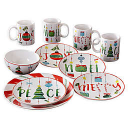 American Atelier Ornaments 16-Piece Dinnerware Set