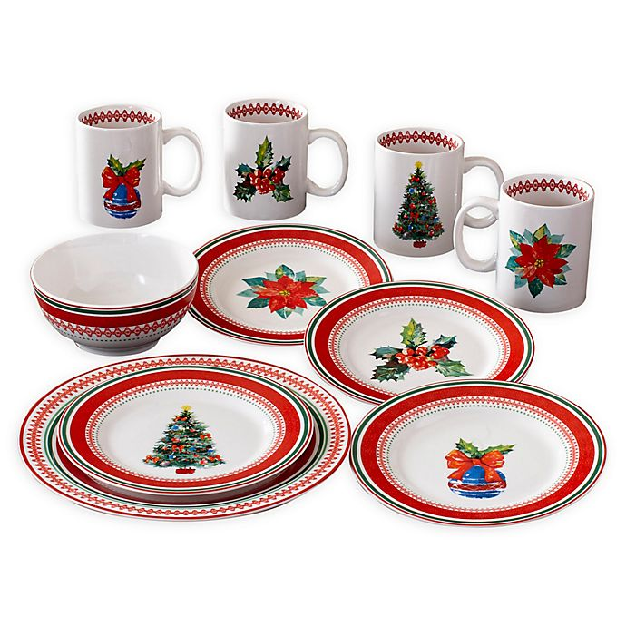 Alternate image 1 for American Atelier Noelle 16-Piece Dinnerware Set