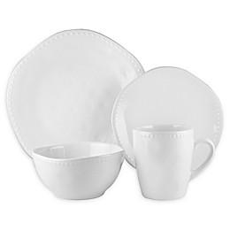 American Atelier Nadia 16-Piece Dinnerware Set in White