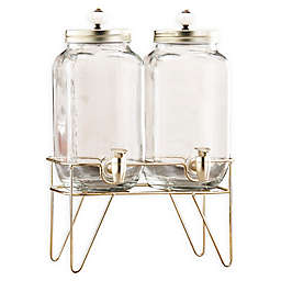 Style Setter Julian Set of 2 Beverage Dispensers in Clear with Stand