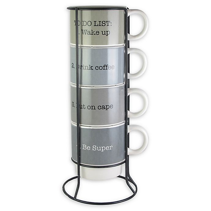 Alternate image 1 for American Atelier Coffee 5-Piece Mug Set with Rack