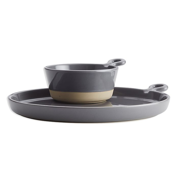 Alternate image 1 for Rachel Ray™ Soup and Sandwich Plate Set in Grey