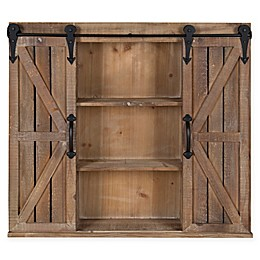 Cates Storage Cabinet with Barn Doors in Brown