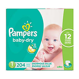 Pampers® Baby Dry™ 204-Count Size 1 Pack Disposable Diapers