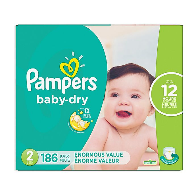 Alternate image 1 for Pampers® Baby Dry™ 186-Count Size 2 Pack Disposable Diapers