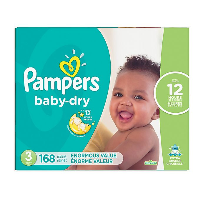 Alternate image 1 for Pampers® Baby Dry™ 168-Count Size 3 Pack Disposable Diapers