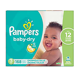 Pampers® Baby Dry™ 168-Count Size 3 Pack Disposable Diapers