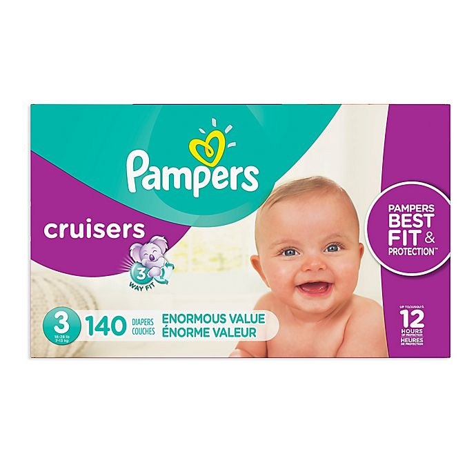 Alternate image 1 for Pampers® Cruisers™ Size 3 140-Count Disposable Diapers
