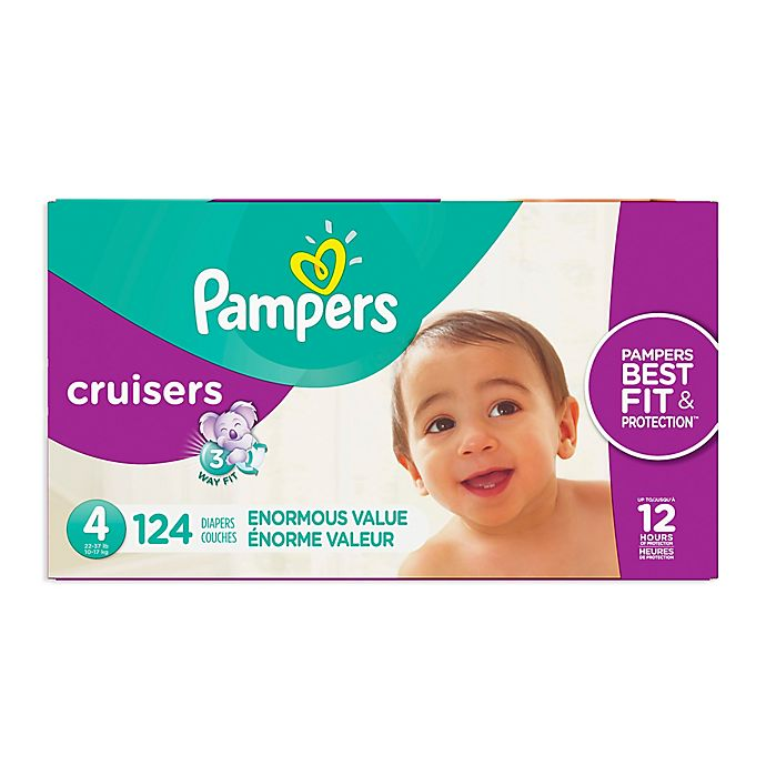 Alternate image 1 for Pampers® Cruisers™ Size 4 124-Count Disposable Diapers