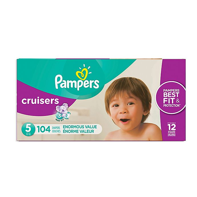 Alternate image 1 for Pampers® Cruisers™ Size 5 104-Count Pack Disposable Diapers